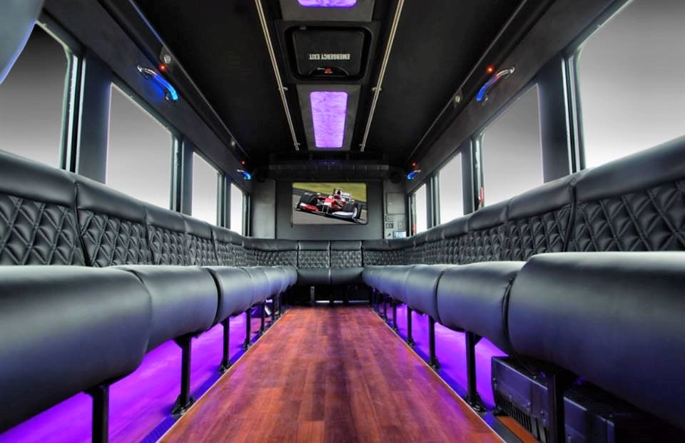 Limo Party Bus interior